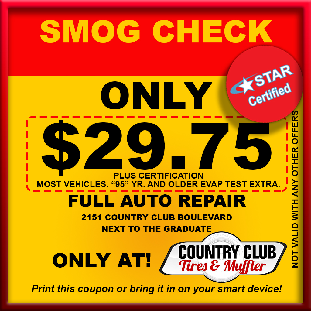 Country Club Tires and Muffler Coupon